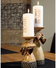 """Medinė žvakidė """"Heart"""""""
