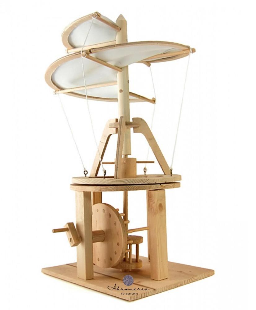 "Medinė dovana Leonardo Da Vinci ""Helicopter"""
