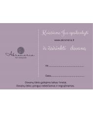 Dovanų kuponas 50 eur Akromeria