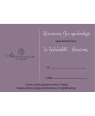 Dovanų kuponas 100 eur Akromeria