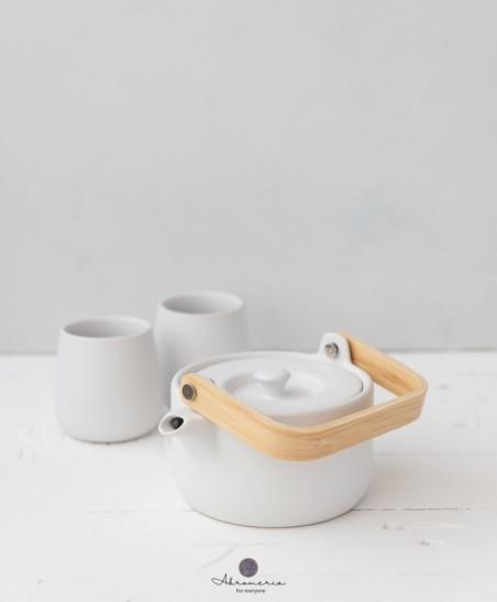"""Keramikinis arbatinukas su puodeliais """"Fajansas"""""""