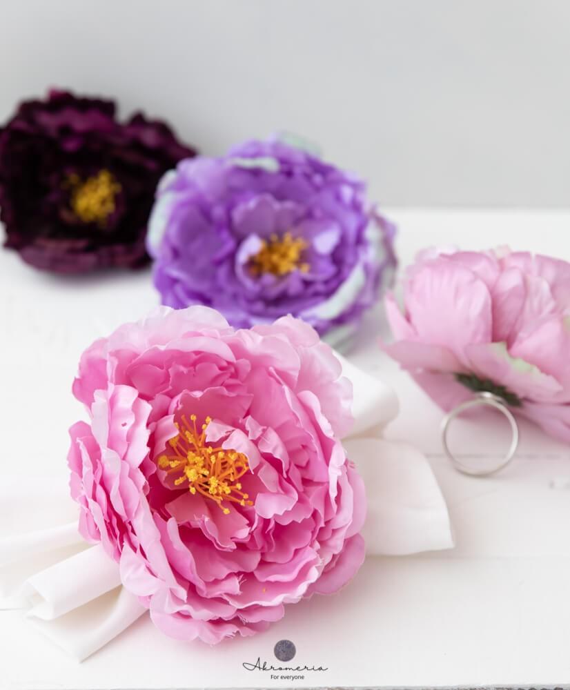 """Servetėlių žiedai """"Gėlė""""komplektas"""